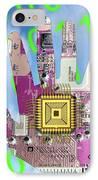 Cybernetics And Robotics IPhone Case by Victor De Schwanberg