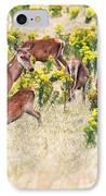 Deers IPhone Case by MotHaiBaPhoto Prints