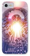 Electronic World, Artwork IPhone Case by Mehau Kulyk
