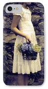 Girl With Flowers IPhone Case by Joana Kruse
