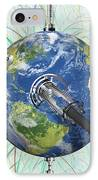 Monitoring Earth, Conceptual Artwork IPhone Case