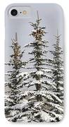 Snow Covered Evergreen Trees Calgary IPhone Case