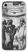 Aristotle, Ptolemy And Copernicus IPhone Case by Science Source