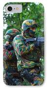 Belgian Paratroopers Proceeding IPhone Case
