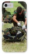 Soldiers Of A Belgian Infantry Unit IPhone Case by Luc De Jaeger