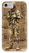 Hdr Image Of A German Army Soldier IPhone Case by Terry Moore