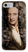 Isaac Newton, English Polymath IPhone Case by Science Source