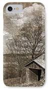 Rustic Hillside Barn IPhone Case