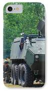 A Belgian Army Piranha IIic With The Fn IPhone Case by Luc De Jaeger