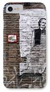 A Character On The Wall IPhone Case by RicardMN Photography