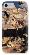A Fossilized T. Rex Bursts To Life IPhone Case
