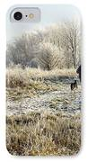 A Man And His Dog IPhone Case by John Chatterley