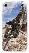 A Marine Sets Up A Laser Designator IPhone Case by Stocktrek Images