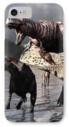 A Tyrannosaurus Rex Moves IPhone Case by Mark Stevenson