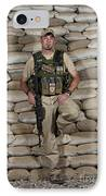 A U.s. Police Officer Contractor Leans IPhone Case by Terry Moore