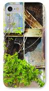 Abandoned Factory With Rusted Metal Sign IPhone Case by Gordon Wood