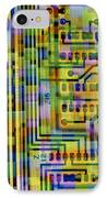 Abstract Image Of A Circuit Board. IPhone Case by Tony Craddock