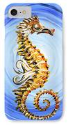 Abstract Sea Horse IPhone Case by J Vincent Scarpace