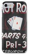 Ace's Hot Rod Shop IPhone Case by Clarence Holmes