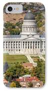 Aerial View Of Utah State Capitol Building IPhone Case by Gary Whitton
