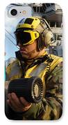 Airman Receives Proper Fire Fighting IPhone Case by Stocktrek Images