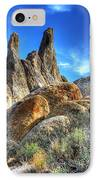 Alabama Hills Granite Fingers IPhone Case by Bob Christopher