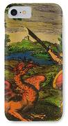 Alchemical Knight Slays The Primordial IPhone Case by Science Source