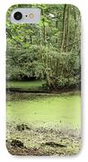 Algal Bloom In Pond IPhone Case by Michael Marten