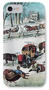 American Winter 1870 IPhone Case by Photo Researchers