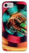 Amusement Park Ride At Night IPhone Case by Bryan Mullennix