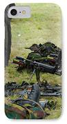 An Infantry Unit Of The Belgian Army IPhone Case by Luc De Jaeger