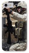 An Infantryman Talks To His Marines IPhone Case