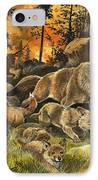 Animals United In Terror As They Flee From A Forest Fire IPhone Case