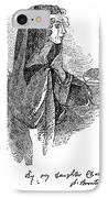 Anne BrontË (1820-1849) IPhone Case by Granger