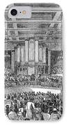 Anti-slavery Meeting, 1842 IPhone Case by Granger