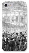 Anti-slavery Meeting, 1863 IPhone Case