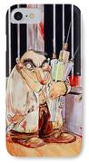 Anti-vivisectionist Caricature Of A Scientist IPhone Case by David Gifford