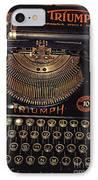 Antiquated Typewriter IPhone Case
