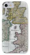 Antique Map Of Britain IPhone Case by English School