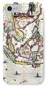 Antique Map Showing Southeast Asia And The East Indies IPhone Case by Willem Blaeu
