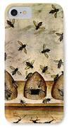 Apiculture-beekeeping-14th Century IPhone Case by Science Source