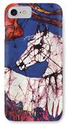 Appaloosa In Flower Field IPhone Case