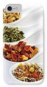 Assorted Herbal Wellness Dry Tea In Spoons IPhone Case