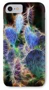 At Night The Desert Glows IPhone Case by Ellen Heaverlo