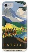 Austrian Alps IPhone Case by Georgia Fowler
