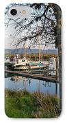 Autumn At The Harbor IPhone Case by Pamela Patch
