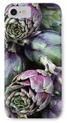Background Of Artichokes IPhone Case by Jane Rix