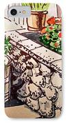 Backyard Sketchbook Project Down My Street IPhone Case by Irina Sztukowski
