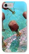Bacteriophage T4 Virus Group 1 IPhone Case by Russell Kightley