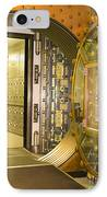 Bank Vault Doors Leading To Safety Deposit Boxes IPhone Case by Adam Crowley